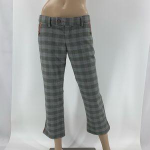 Abercrombie & Fitch Orange Plaid Pants